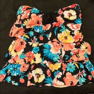 Floral Pattern Swim Top (Cover)